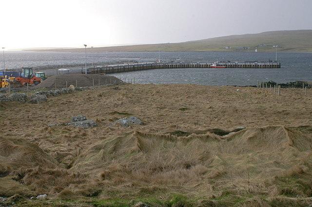 New pier at Uyeasound, March 2009