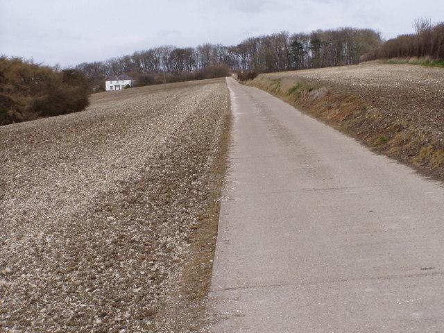 Track up to Binsdale Farm