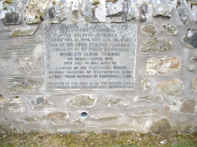 Memorial plaque in lower cemetery, Walla Kirkyard