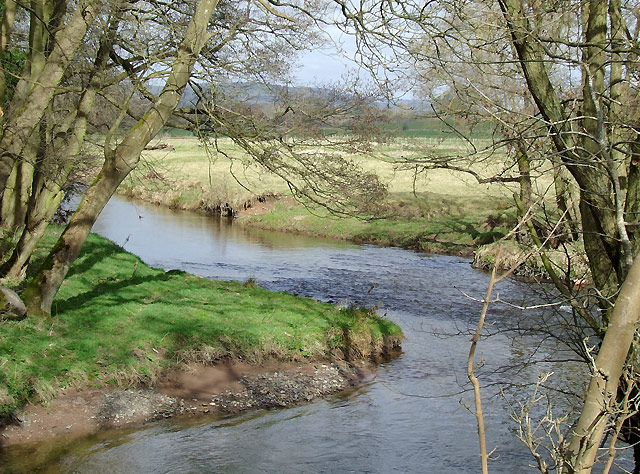 The River Onny north of Plowden, Shropshire