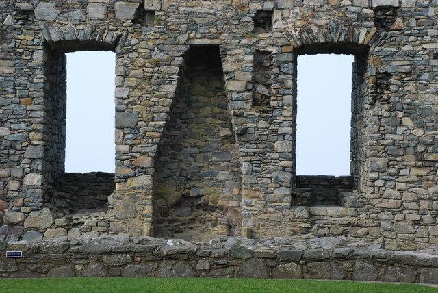 Castell Harlech Lle Tân - Fireplace