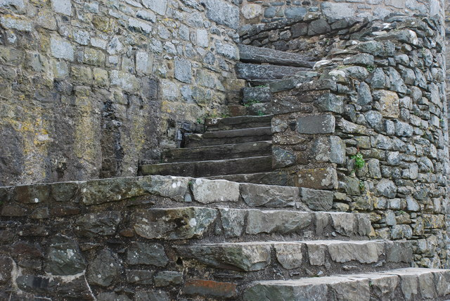 Castell Harlech Grisiau - Stairs
