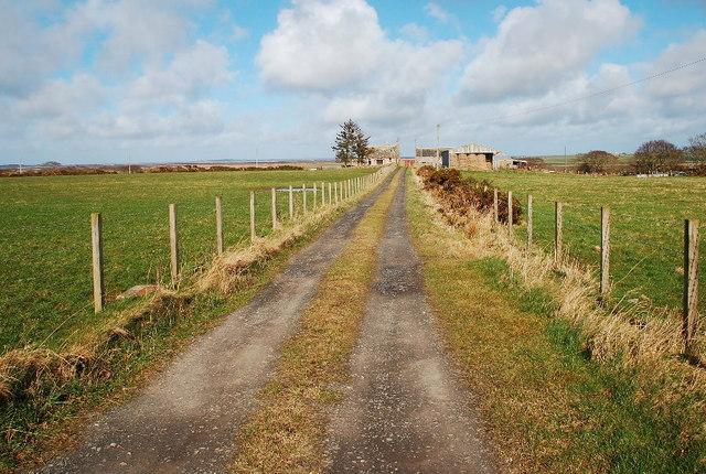 Farm track to Overton