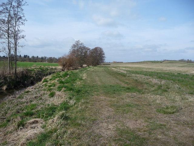 Walkers beside the River Alne near Henley-in-Arden.