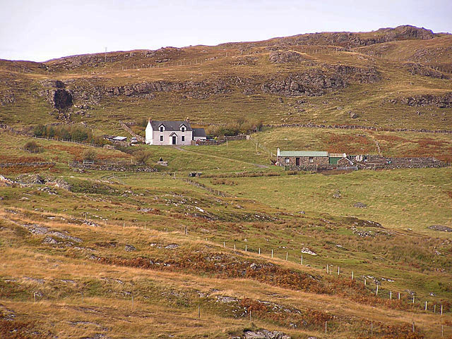 Houses overlooking Clashnessie Bay