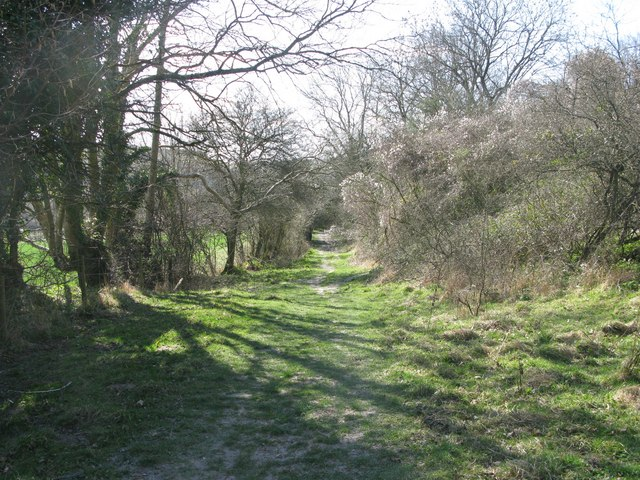 The bridleway up on to Giant Hill