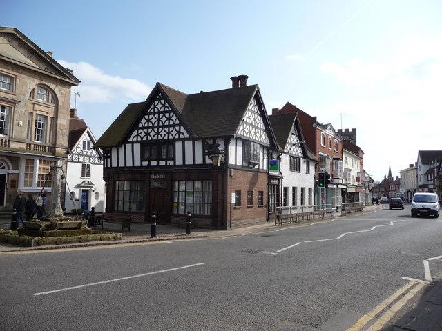 Part of Henley-in-Arden  High Street.