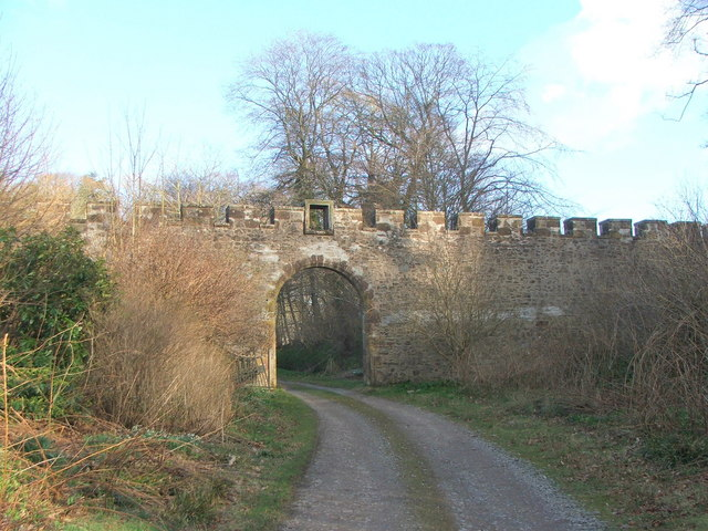 Boundary Wall and Gateway at Fyvie Castle Estate
