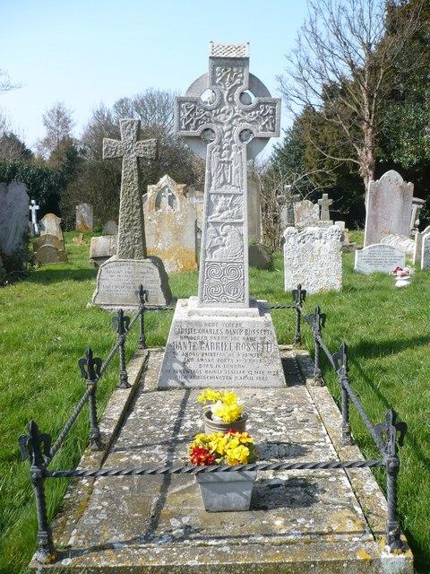 Grave of Dante Gabriel Rossetti. 1828 - 1882