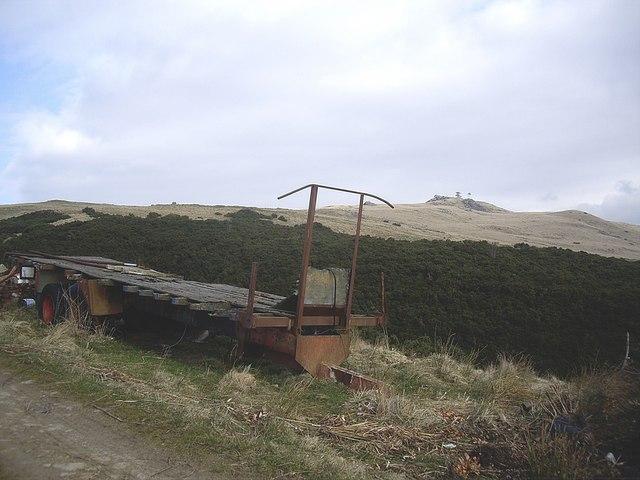 Derelict lorry trailer