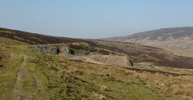 Old mine ruins, Summer Lodge Moor