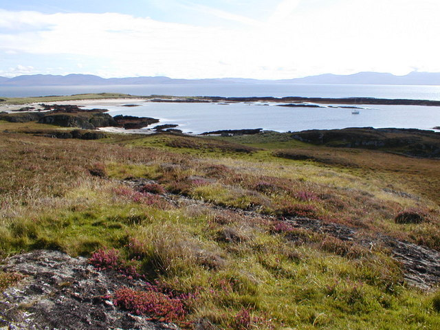 Sandy bay at the north east corner of Oronsay