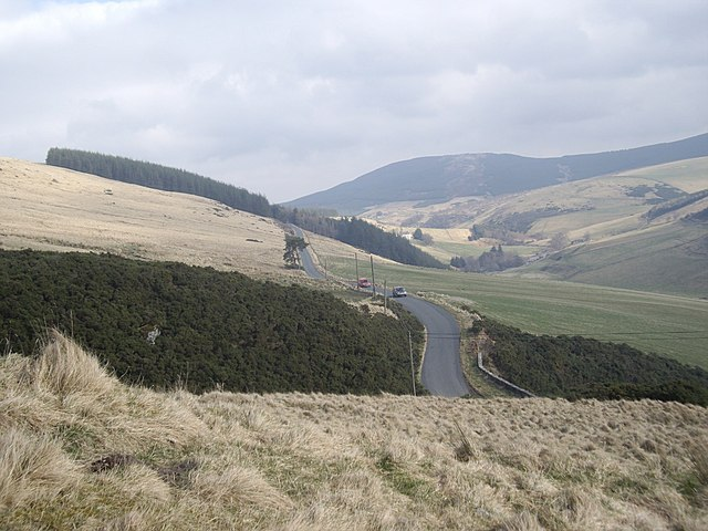 View up the Deveron valley