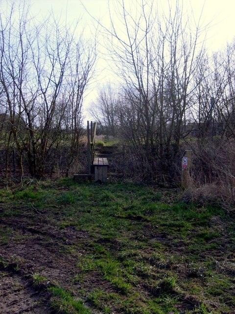 Footbridge near the Penk