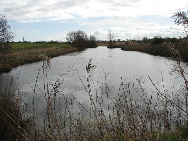 View south along reservoir and Mundesley Beck