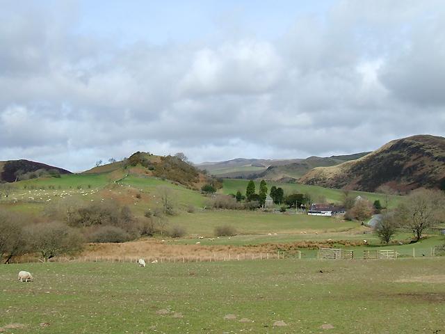 Farmland at Ysbyty Cynfyn, Ceredigion