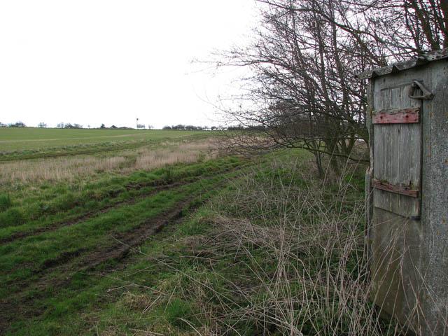 Farm track along reservoir