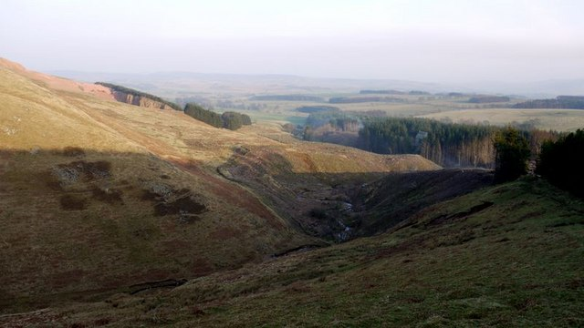 Valley of Biddlestone Burn