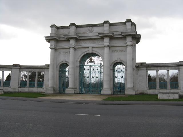 War Memorial Gates on Victoria Embankment, Nottingham