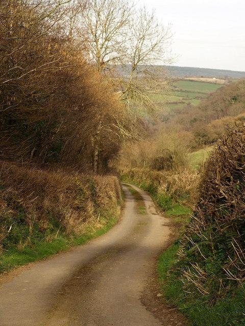 Lane past Trusham Quarry