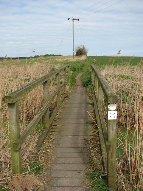 Bridge over drain