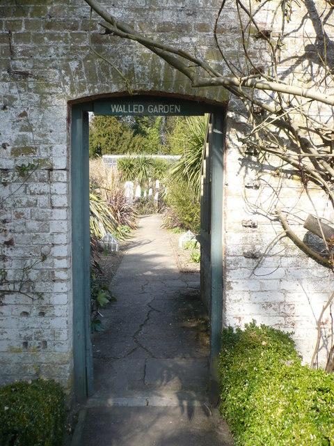 Doorway to the walled garden, Quex Park