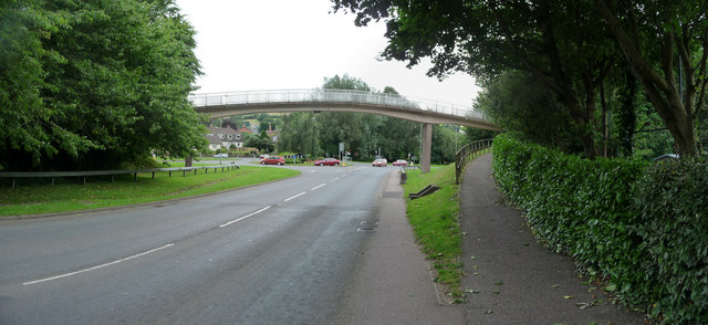 Tiverton : Heathcoat Way & Footbridge
