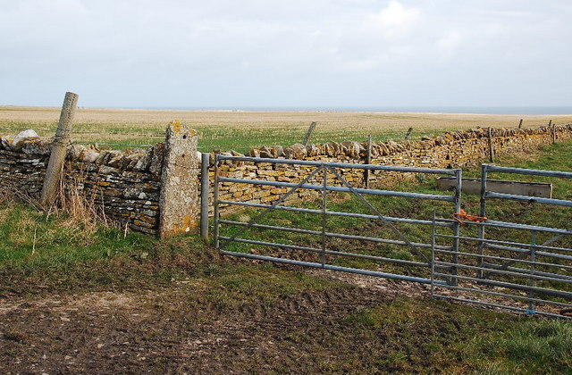 Stone dyke and gates