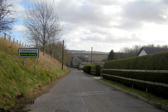 Entering Tannadice Village from Glen Ogil Road