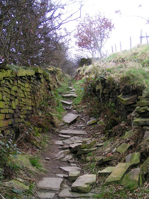 Sunken Footpath connecting Shibden Valley with Magna Via