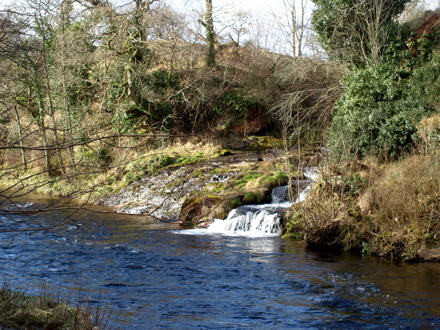 White Burn entering the River South Esk at Shielhill Bridge