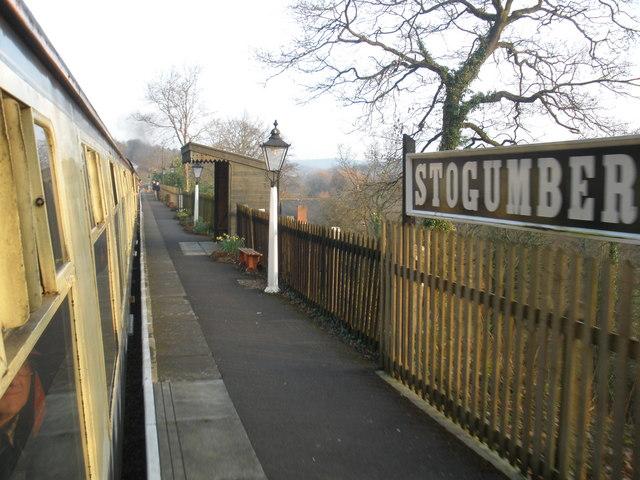 Station platform, Stogumber