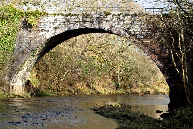 View of the old Shielhill Bridge