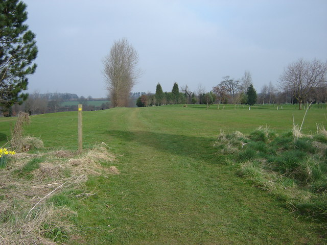 Footpath  over  South  Cave  golf  course