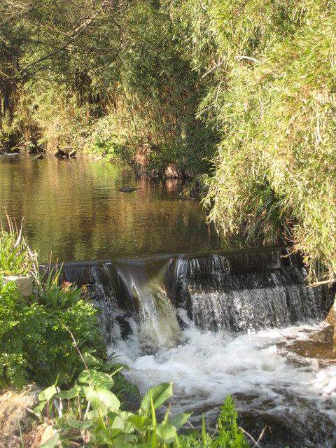 Weir on the stream in Penberth Valley