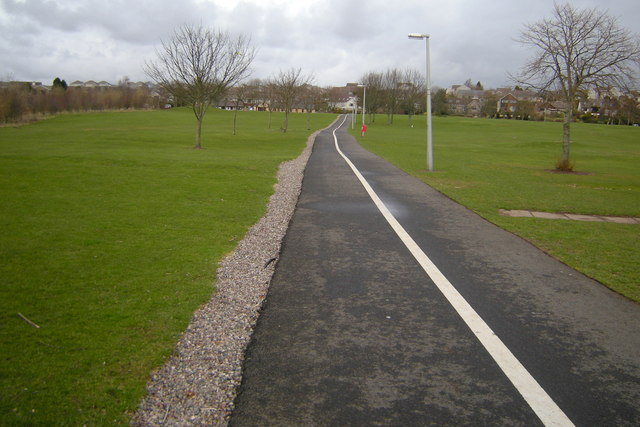 Footpath and Cycle Track leading from Forfar Leisure Centre to Turfbeg
