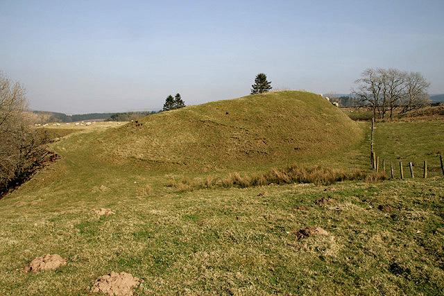 Castle earthworks at Castleton