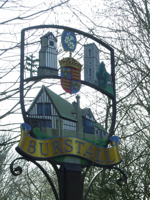 Burstall Village sign