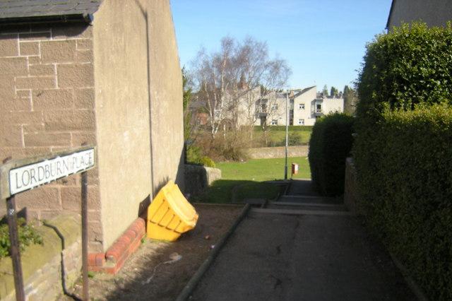 Footpath leading to Lordburn Place, Forfar