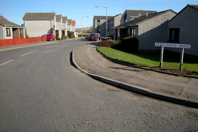 View of Restenneth Drive, Forfar