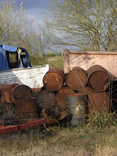 Rusty drums and ratty boats.