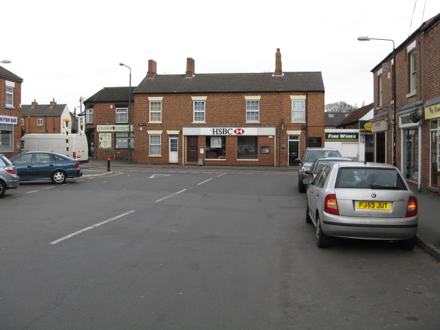 Ruddington - town square and High Street