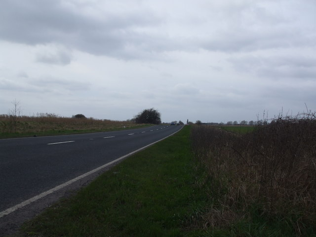 The A18 towards Pilfrey Bridge