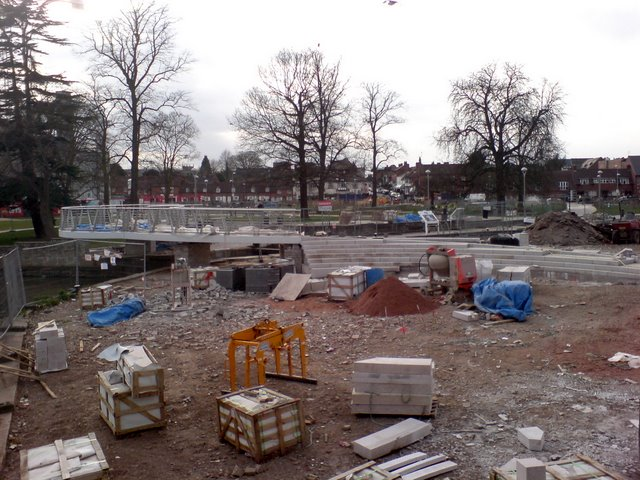 Landscape transformation in progress at Bancroft Gardens