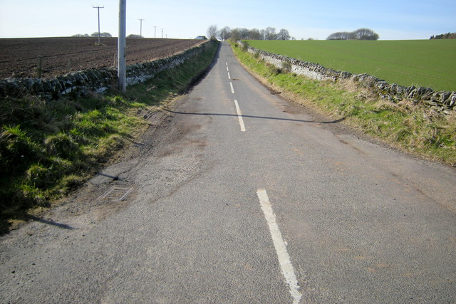 Road leading to Balmashanner Farm from the Forfar / Caldhame Road