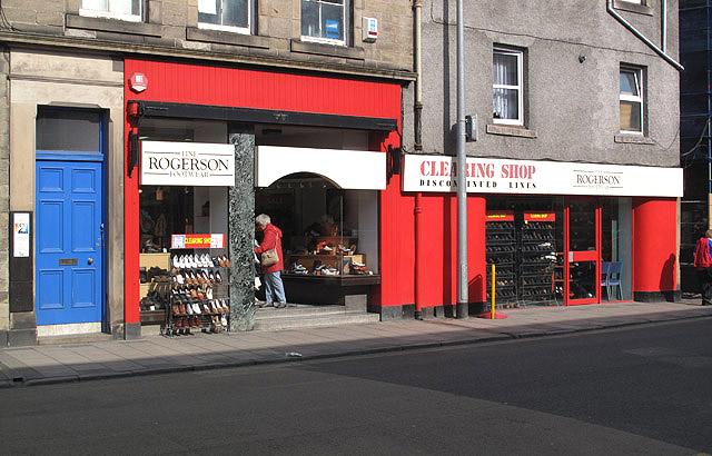 The Rogerson shoe shop in Galashiels