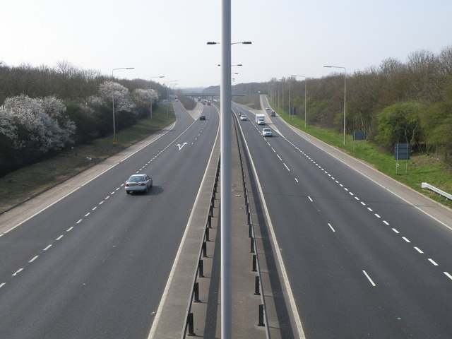 Looking west on the Orton Parkway