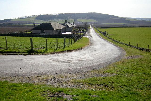 Balmashanner / Easter Meathie Road at Craignathro Farm Cottages