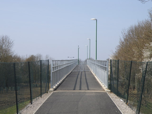 Pedestrian footbridge ramp