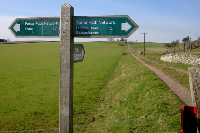 Forfar Path Network Signpost